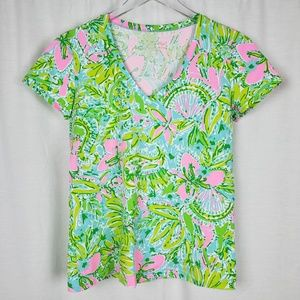 Lilly Pulitzer Coconut Jungle Michele Tee
